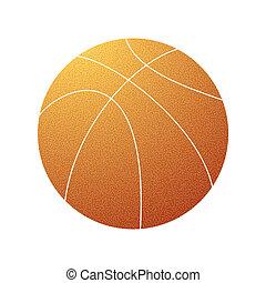 Basketball grunge orange symbol
