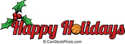 Basketball Happy Holidays