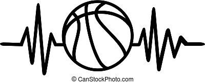 Basketball heartbeat pulse