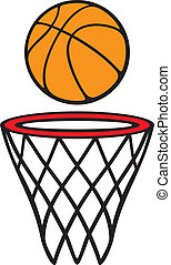 basketball hoop and ball (basketball hoop with basketball, ...