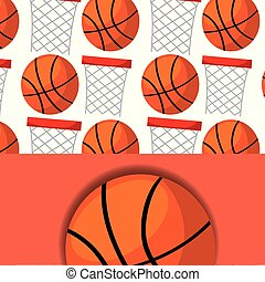 basketball hoop and ball sport competition pattern