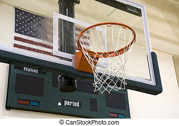 Basketball Hoop at Gymnasium