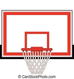 Basketball hoop - Rectangular basketball hoop