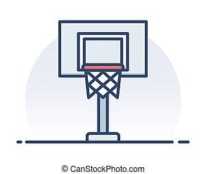Basketball hoop.