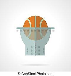 Basketball hoop flat color design vector icon