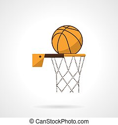 Basketball hoop flat color vector icon