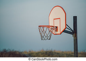 Basketball hoop for outdoor sport activity