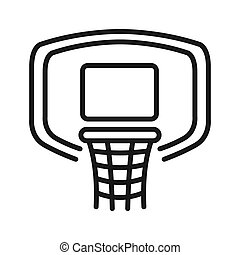 basketball hoop illustration design