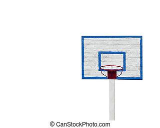 basketball hoop isolated on white background horizontal photo.