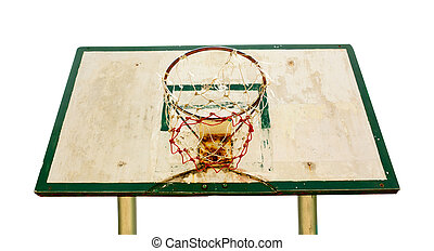 Basketball hoop isolated on white background