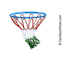 basketball hoop isolated on white.