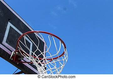 basketball hoop underneath