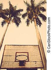 basketball hoop vintage retro
