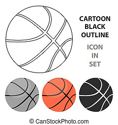 Basketball icon cartoon. Single sport icon from the big...