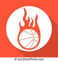 Basketball icon design , vector illustration
