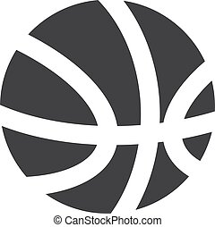 Basketball icon in black on a white background. Vector illustration