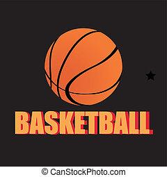basketball icon on black background