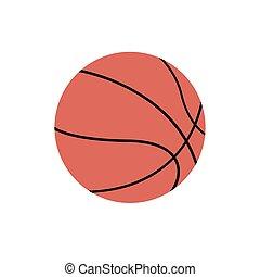 Basketball icon on white Background