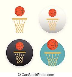 Basketball icon on white