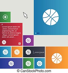 Basketball icon sign. buttons. Modern interface website buttons with cursor pointer. Vector