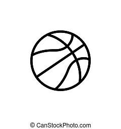 basketball icon. vector illustration black on white background