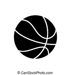 basketball icon, vector illustration, black sign on isolated background