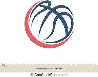 Basketball Icon Vector Logo Template Illustration Design