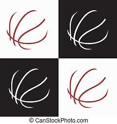 basketball icons - basketball ball abstract icons on white ...
