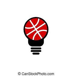 basketball idea vector design template illustration