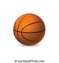 Basketball - Illustration of a basketball isolated on a...