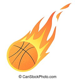 Basketball in Fire