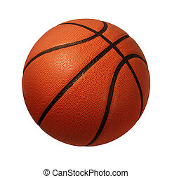 Basketball Isolated - Baskeball isolated on a white...