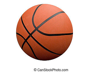 Basketball isolated over a white background with a clipping...