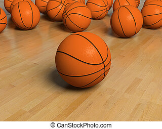 basketball item - basketball game bal over the white...