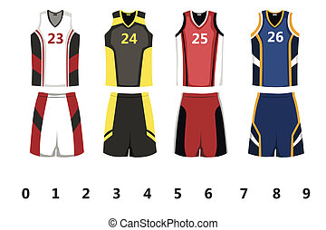 A vector illustration of basketball jersey design