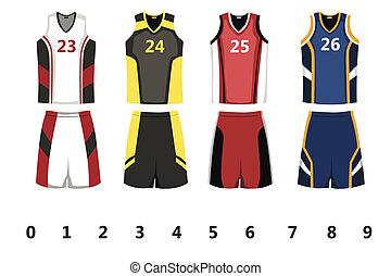 Basketball jersey - A vector illustration of basketball...