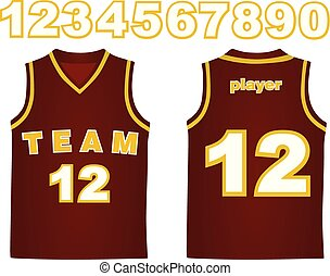 Basketball jersey. vector illustration