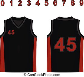 Basketball jersey. vector illustration