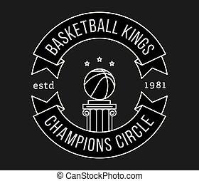 Basketball kings white on black
