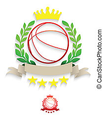 Basketball laurel wreath