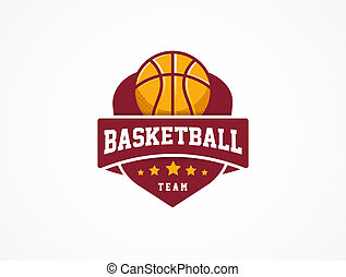 Basketball Logo, American sports symbol and icon