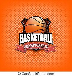 Basketball logo template design
