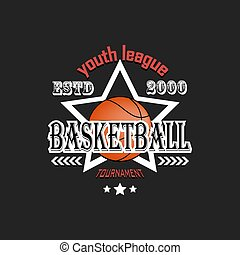 Basketball logo template design
