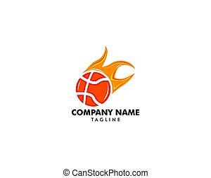 Basketball logo template vector illustration