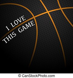 Basketball love background
