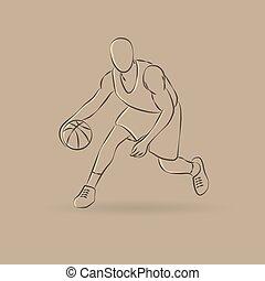 Basketball man outline