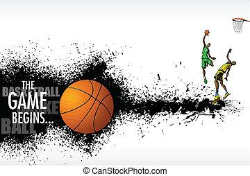 Basketball Match - illustration of basketball player playing...