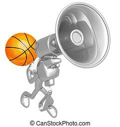 basketball, megaphon