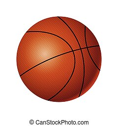 Basketball - modern vector realistic isolated object