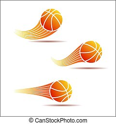 Basketball moving set